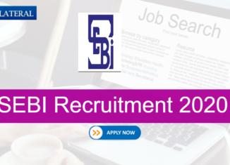 SEBI Internship Recruitment 2020
