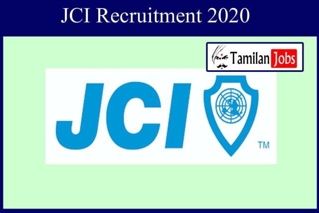 JCI Assistant Manager Recruitment 2020