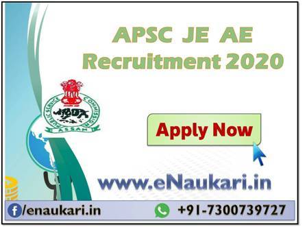 APSC-JE-AE-Recruitment-2020