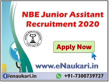 NBE-Junior-Assitant-Recruitment-2020