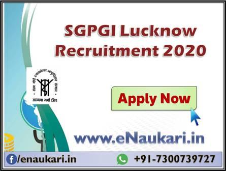 SGPGI-Lucknow-Recruitment-2020-