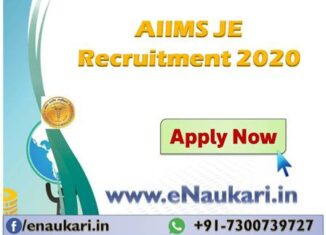 AIIMS-JE-Recruitment-2020