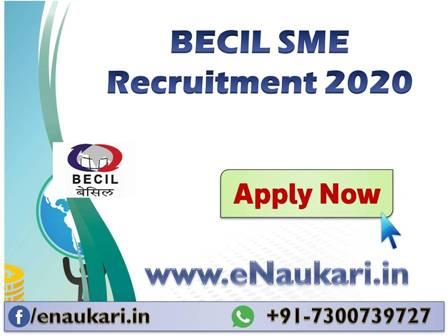 BECIL-SME-Recruitment-2020