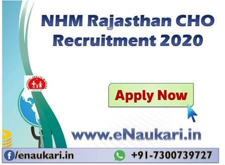 NHM-Rajasthan-CHO-Recruitment-2020