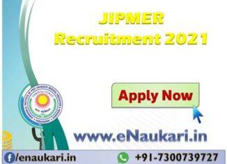 JIPMER-Recruitment-2021.